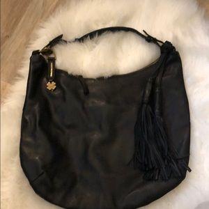 Lucky 🍀 black leather hobo